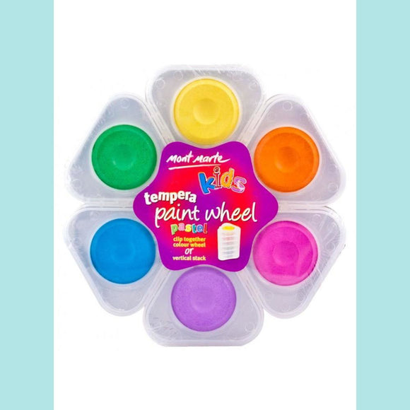 Mont Marte - Kids Tempera Paint Wheel - Pastel