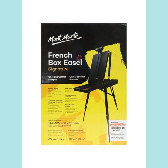 Mont Marte - Signature Black French Box Easel