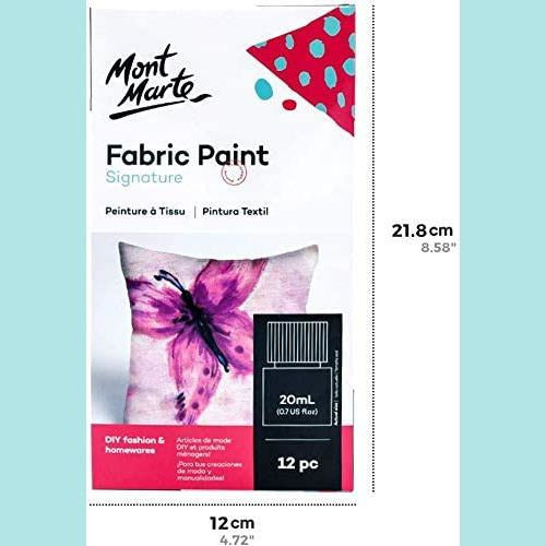 Mont Marte - Signature Fabric Paints 12pc x 20ml