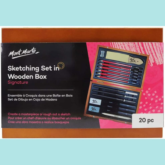 Mont Marte - Signature Sketching Set in Wooden Box 21pc