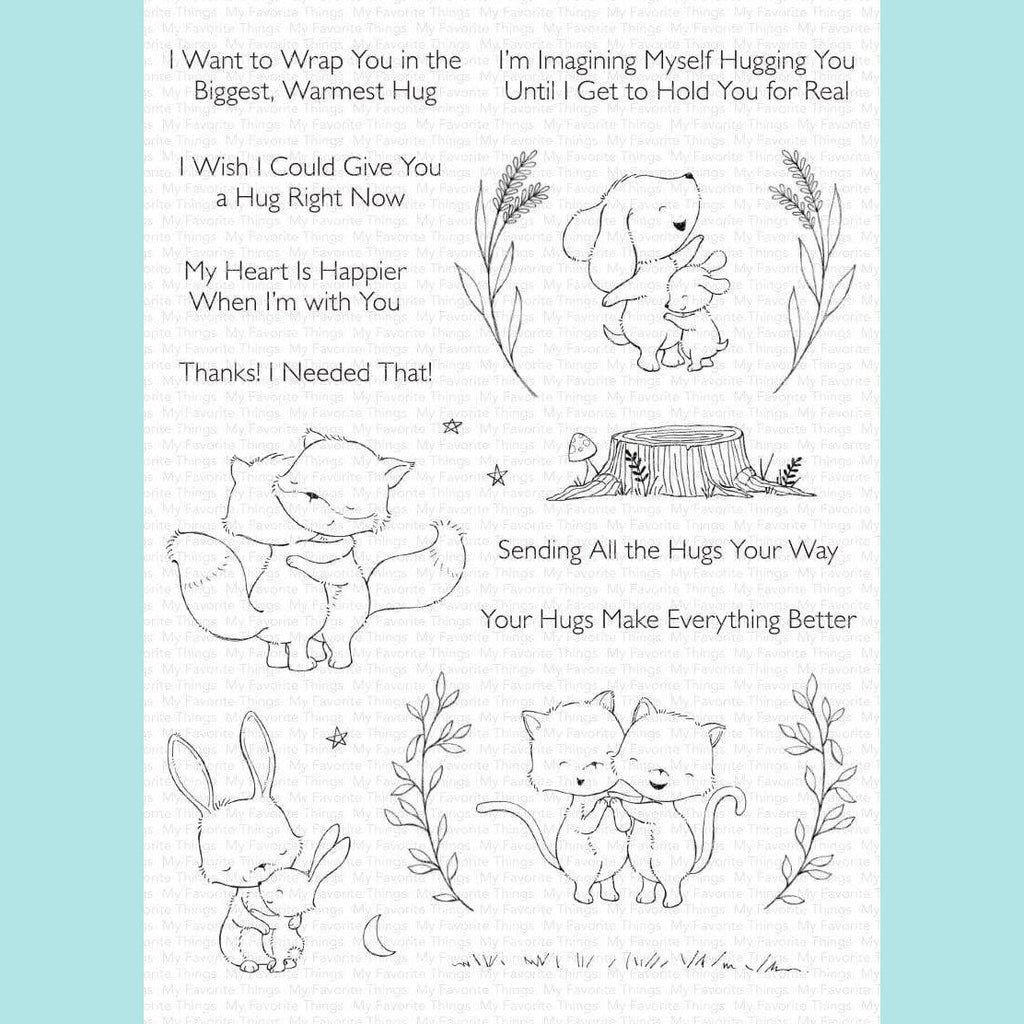 My Favorite Things - Hugs Make Everything Better Stamp and Die Set STAMP