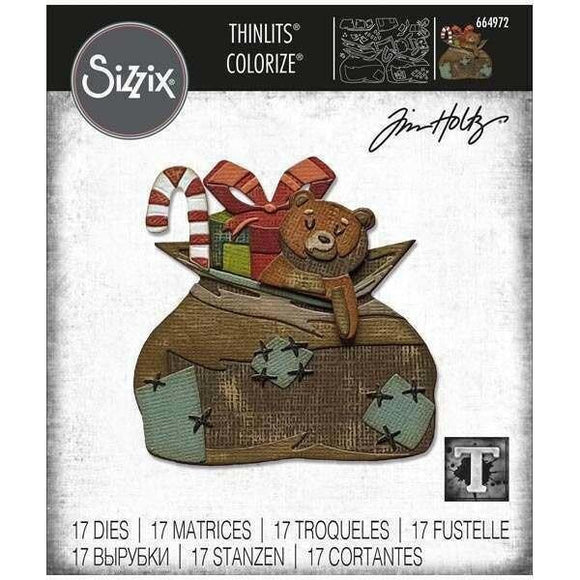 Sizzix Thinlits Die Set 17PK - Toyland, Colorize by Tim Holtz
