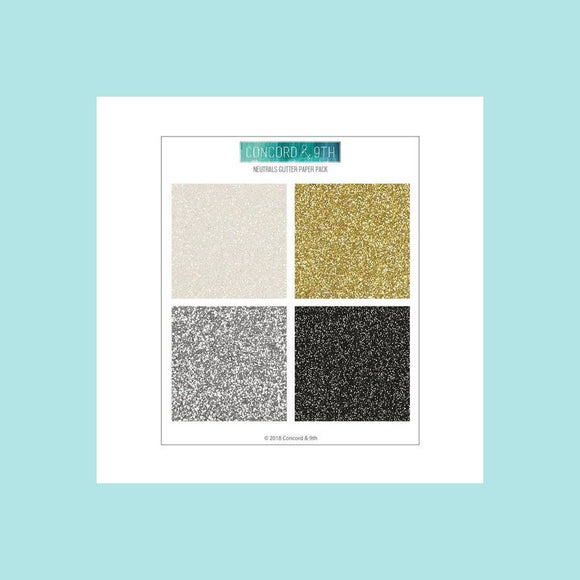 Concord & 9th - NEUTRALS GLITTER PAPER PACK