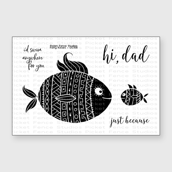 Picket Fence Studios - Fishy Kisses	Stamps and Dies
