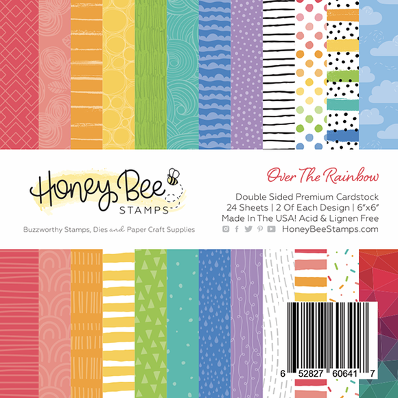 Honey Bee - Over The Rainbow | 6x6 Paper Pad | 24 Double Sided Sheets