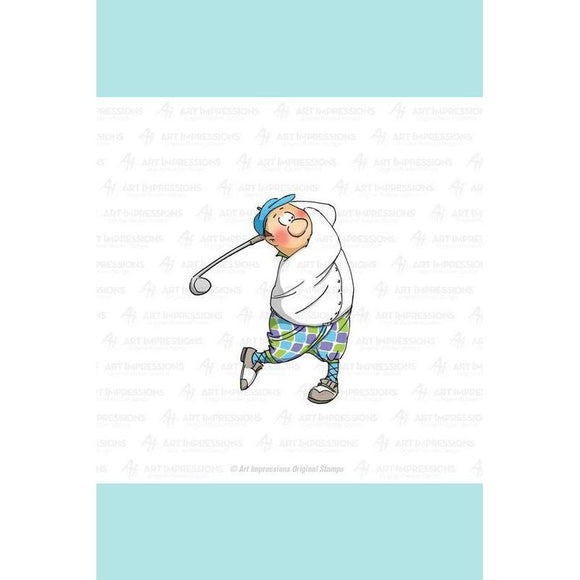 Art Impressions - Gordon Golfer Stamp