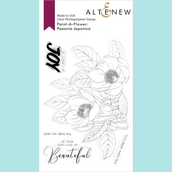 Altenew - Paint-A-Flower: Paeonia Japonica Outline Stamp Set
