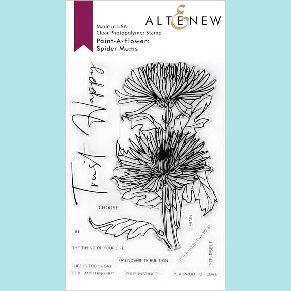 Altenew - Spider Mums Outline Stamp Set