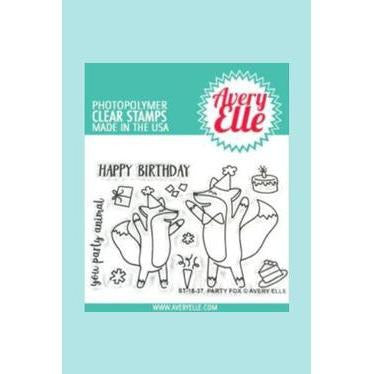 Avery Elle - Party Fox Clear Stamps and Dies