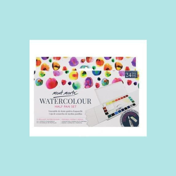 Mont Marte - Watercolour Half Pan Set 27pc