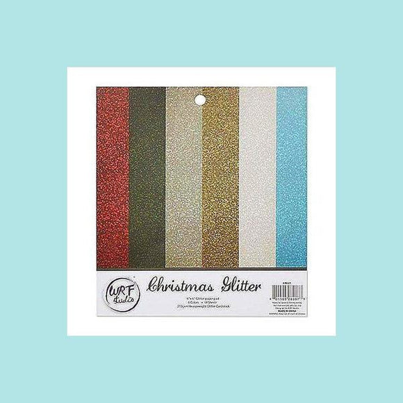 Poppy Crafts - Paper Pads - Cardstock - Glitter 6in x 6in - 18 Sheets