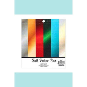 Poppy Crafts - Paper Pads - Cardstock - Foil Pad 6in x 6in - 18 Sheets