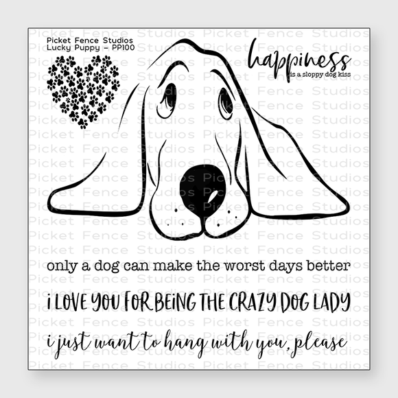 Picket Fence Studios - Lucky Puppy Stamp Set