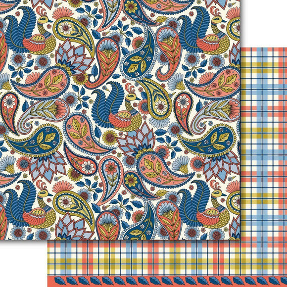 Dare 2B Artzy - Paisley Peacock Paper Pack (15 Sheets)