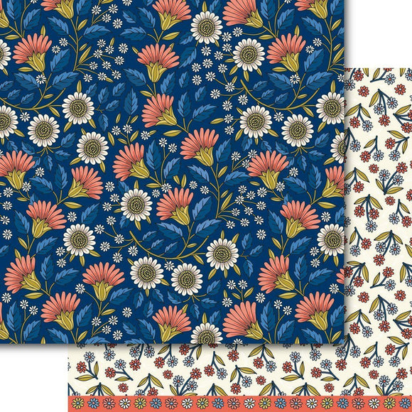 Dare 2B Artzy - Blooms at Midnight Paper Pack (15 Sheets)