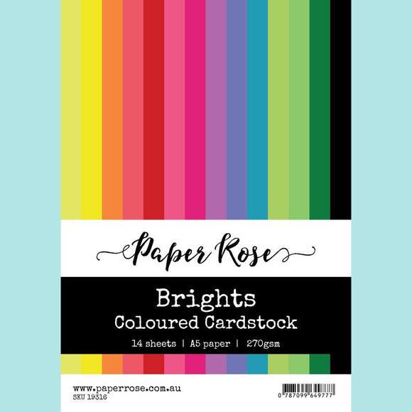 Paper Rose - Brights Coloured Cardstock