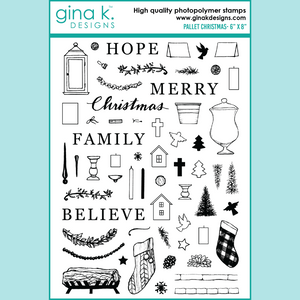 Gina K - Pallet Christmas Clear Stamp