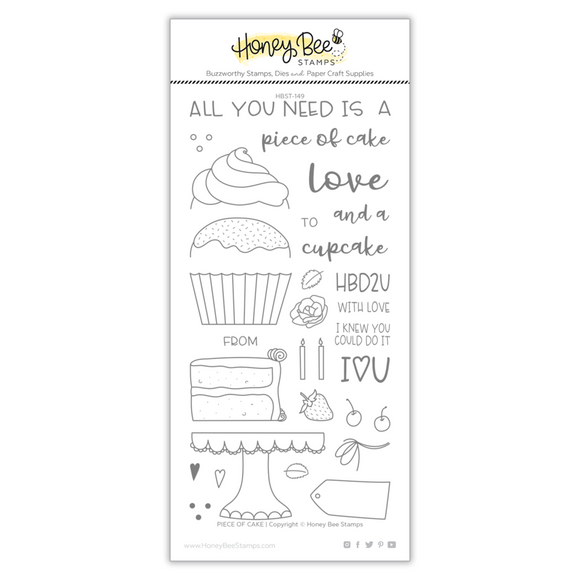 Honey Bee Stamps - Piece Of Cake  Stamp and Die