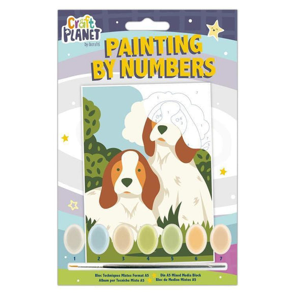 Planet Crafts by Docrafts - Mini Paint By Numbers Kit Dogs