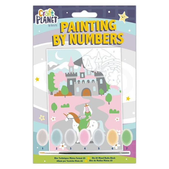Planet Crafts by Docrafts - Mini Paint By Numbers Kit Fairytale Castle