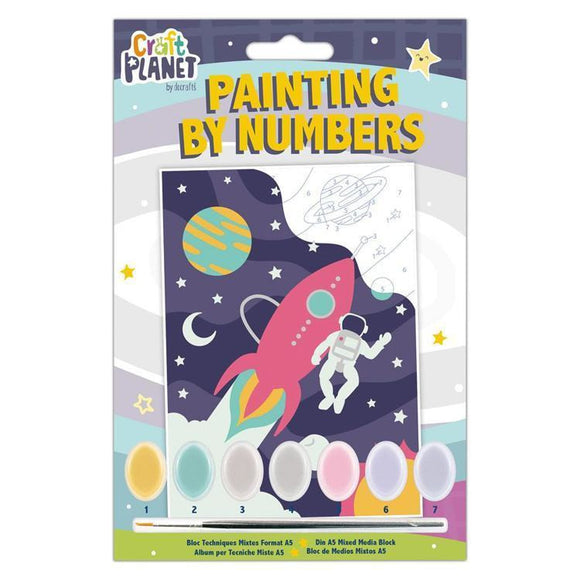 Planet Crafts by Docrafts - Mini Painting By Numbers - Space