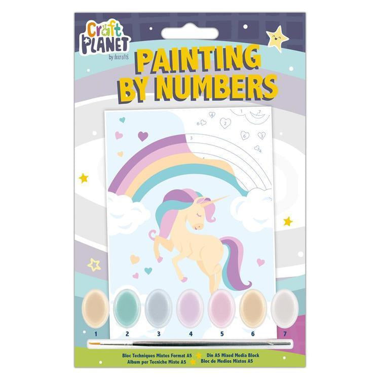 Planet Crafts by Docrafts - Mini Painting By Numbers - Unicorn