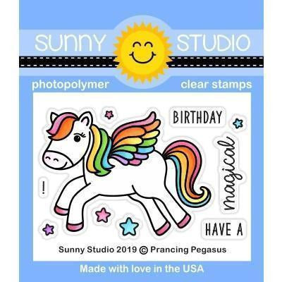 Sunny Studio Stamps - Prancing Pegasus Stamps and Dies