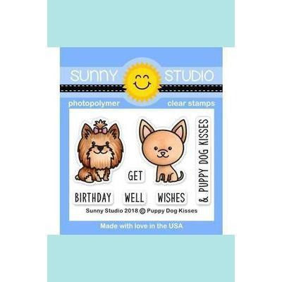 Sunny Studio Stamps - Puppy Dog Kisses Stamp and Die