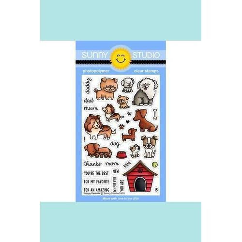 Sunny Studio Stamps - Puppy Parents Stamp and Die