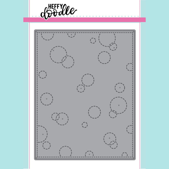 Heffy Doodle - Stitched Bubble Background Die