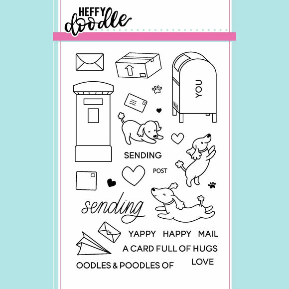 Heffy Doodle - Yappy Happy Mail Clear Stamp Set