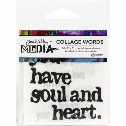 Ranger - Dina Wakley Media Collage Word 3pk
