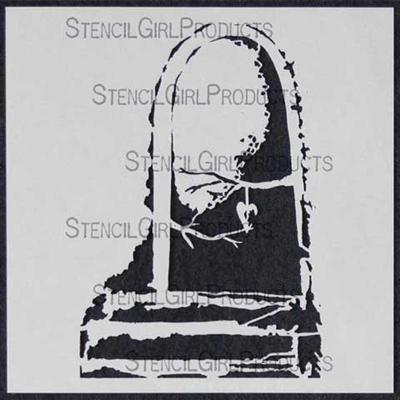 StencilGirl - Door To Heart 6 Stencil