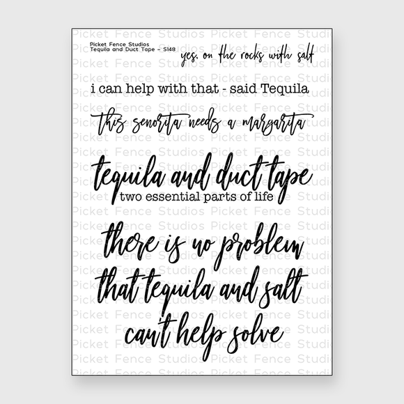 Picket Fence Studios - Tequila and Duct Tape Stamp Set
