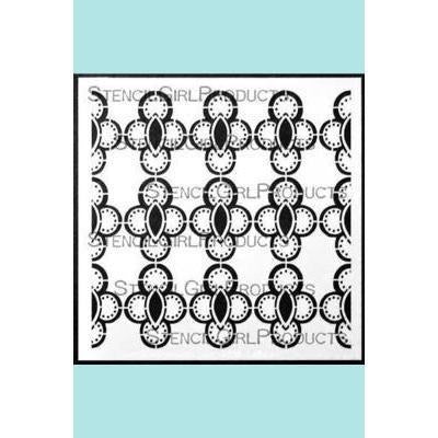 StencilGirl Ornamental Circle Cluster Screen Stencil