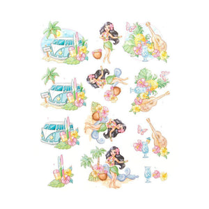 Couture Creations - 3D Diecut Decoupage Pushout Kit - Yvonne Creations - Happy Tropics - Tropical Holiday