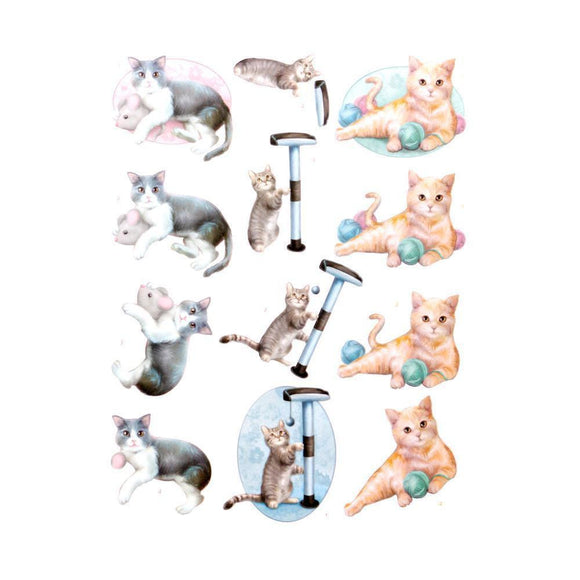 Couture Creations - 3D Diecut Decoupage Pushout Kit - Amy Design - Cats World - Playing Cats