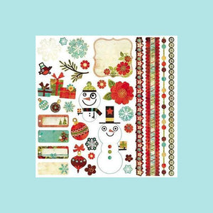 BasicGrey - Jovial Collection - 12 x 12 Element Stickers - Christmas Shapes