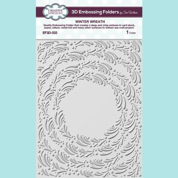 Creative Expressions - 3D Embossing Folder by Sue Wilson - Winter Wreath