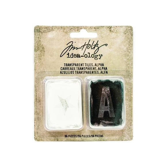Tim Holtz -Transparent Tiles - Alpha