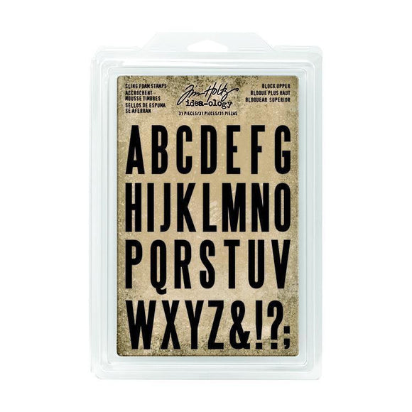 Tim Holtz - Cling Foam Stamps - Block Upper