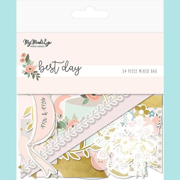 My Mind's Eye - Best Day Collection - Ephemera - Mixed Bag with Foil Accents