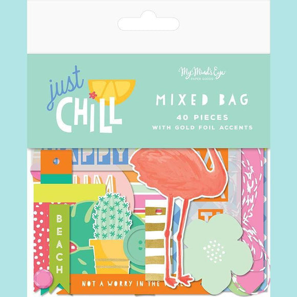 My Mind's Eye - Just Chill Collection - Ephemera - Mixed Bag with Foil Accents
