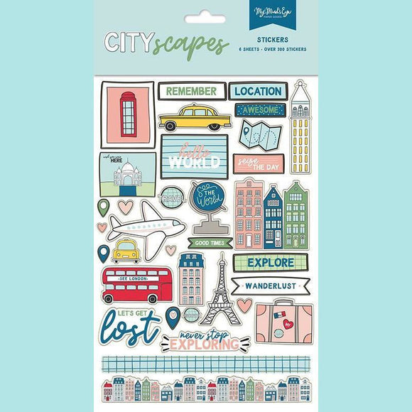 My Mind's Eye - Cityscapes Collection - Cardstock Stickers