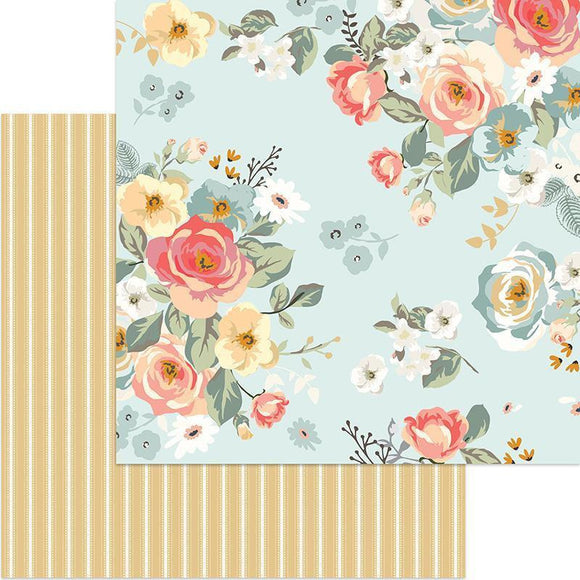 My Mind's Eye - Gingham Gardens Collection - 12 x 12 Double Sided Paper