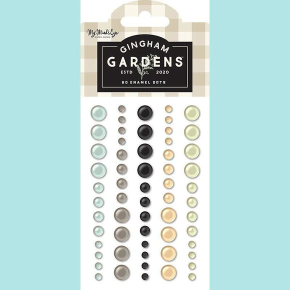 My Mind's Eye - Gingham Gardens Collection - Enamel Dots