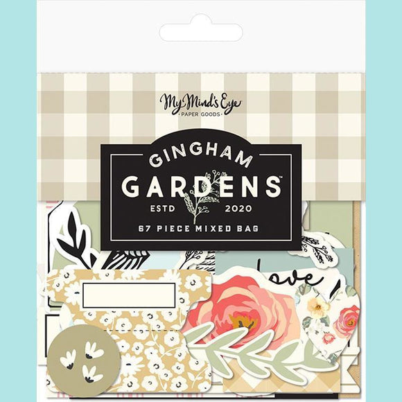 My Mind's Eye - Gingham Gardens Collection - Ephemera - Mixed Bag