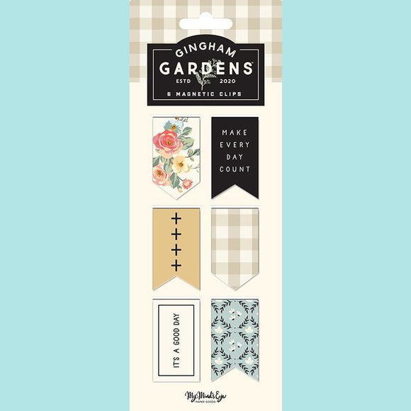 My Mind's Eye - Gingham Gardens Collection - Magnetic Clips