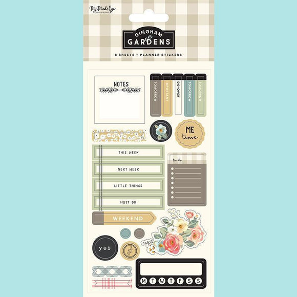 My Mind's Eye - Gingham Gardens Collection - Planner Sticker Set
