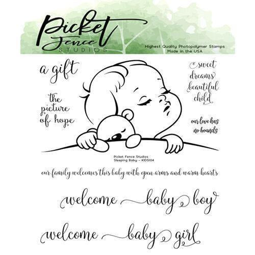 Picket Fence Studios - Sleeping Baby Stamp
